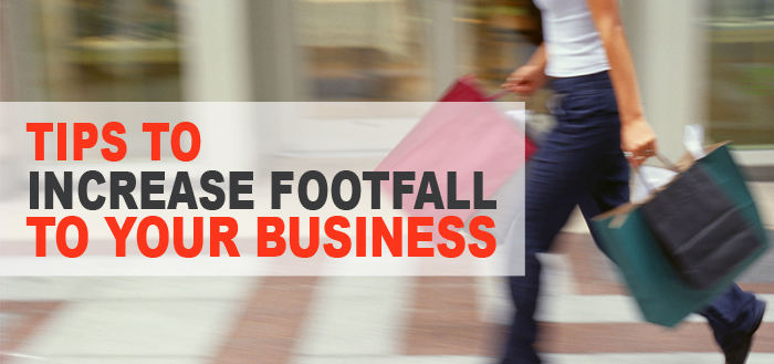 increase footfall to your business copy